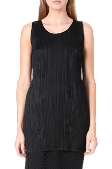 PLEATS PLEASE ISSEY MIYAKE Sleeveless pleated tunic top