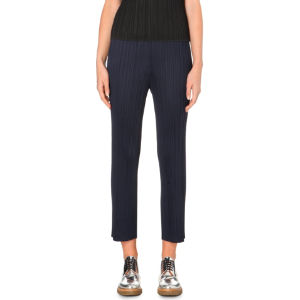 Slim-fit pleated trousers