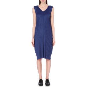 Cap-sleeved pleated dress