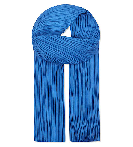 PLEATS PLEASE ISSEY MIYAKE Madame scarf (Blue