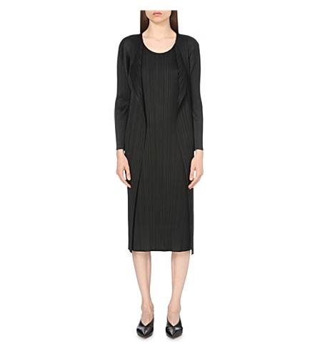 PLEATS PLEASE ISSEY MIYAKE Long pleated coat (Black