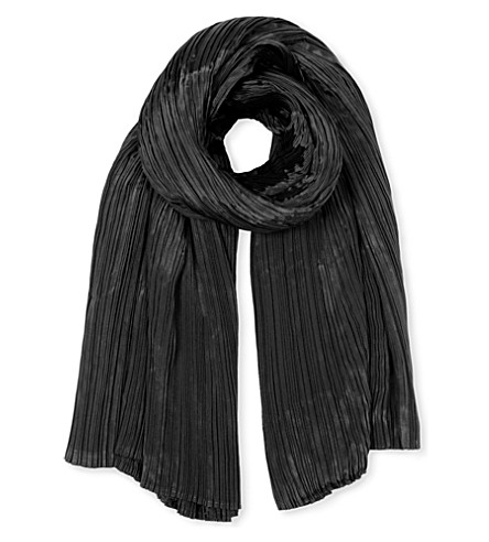 PLEATS PLEASE ISSEY MIYAKE Madame pleated scarf (Black