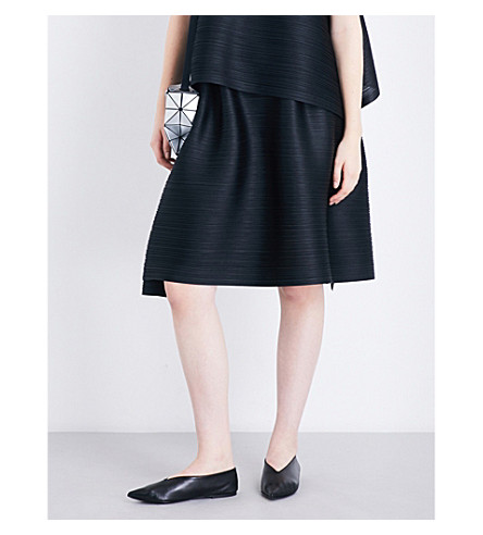 PLEATS PLEASE ISSEY MIYAKE Bounce high-rise pleated skirt (Black