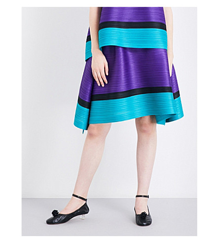 PLEATS PLEASE ISSEY MIYAKE Bounce high-rise pleated skirt (Purple