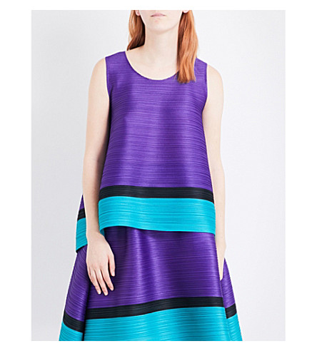 PLEATS PLEASE ISSEY MIYAKE Bounce pleated top (Purple