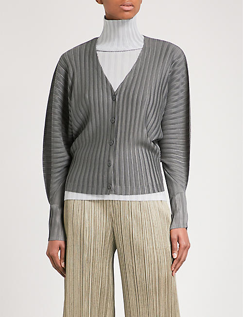 PLEATS PLEASE ISSEY MIYAKE Rib Pleats pleated cardigan