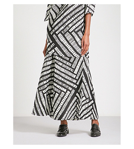 PLEATS PLEASE ISSEY MIYAKE Guchagucha high-rise pleated culottes (Monochrome