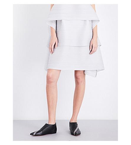 PLEATS PLEASE ISSEY MIYAKE Tiered pleated skirt (Light+gray