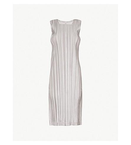 PLEATS PLEASE ISSEY MIYAKE Kirakira sleeveless pleated dress (Silver