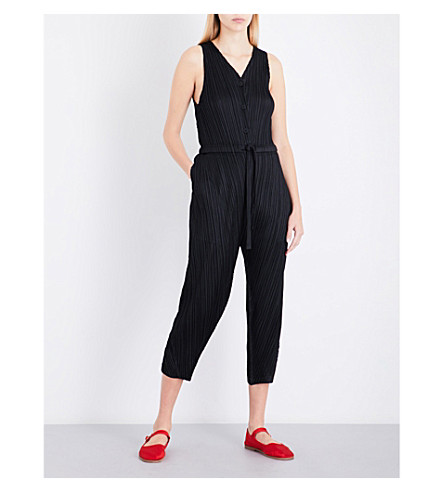 PLEATS PLEASE ISSEY MIYAKE Tapered pleated jumpsuit (Black