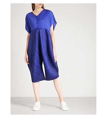 PLEATS PLEASE ISSEY MIYAKE Mirror tapered-leg pleated jumpsuit (Sapphire+blue