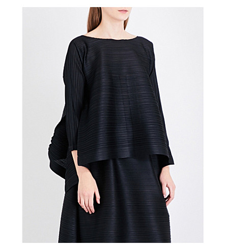 PLEATS PLEASE ISSEY MIYAKE Gizagiza pleated top (Black