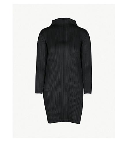 PLEATS PLEASE ISSEY MIYAKE High-neck pleated dress (Black