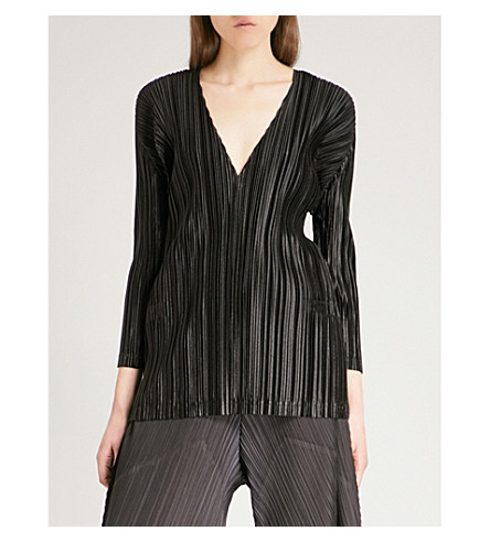 PLEATS PLEASE ISSEY MIYAKE Kira Kira pleated top (Black
