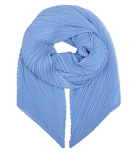 PLEATS PLEASE ISSEY MIYAKE Pleated scarf (Light+blue