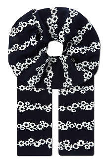 MULBERRY Daisy chain striped scarf