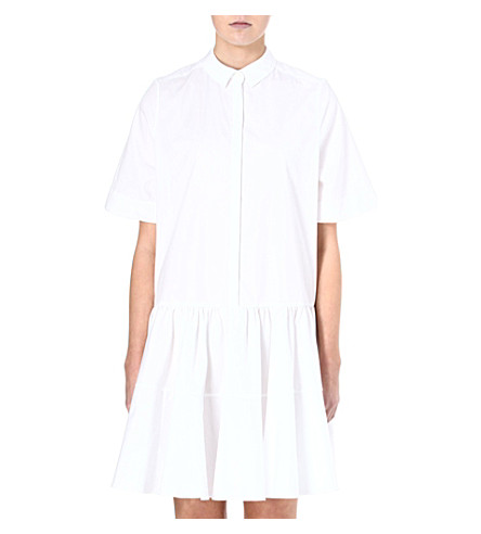 MULBERRY Drop waist shirt dress (White