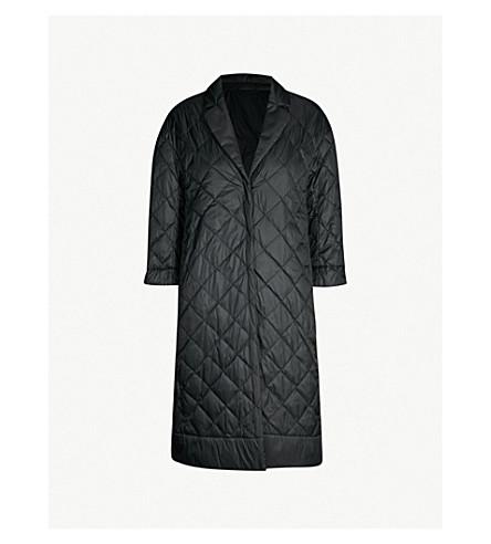 MAX MARA CUBE Enoveco notch-lapel quilted shell coat (Black