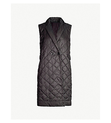 MAX MARA CUBE Enoveg longline quilted shell jacket (Black