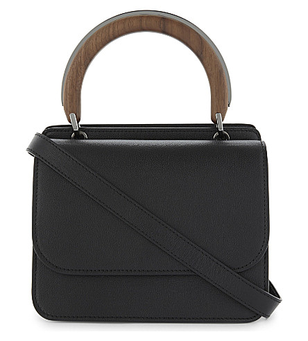 MAX MARA Leather shoulder bag (Black