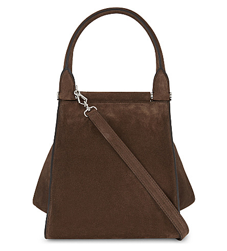 MAX MARA Softy medium suede tote (Brown