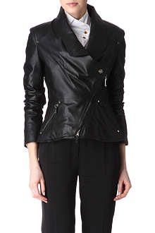 VIVIENNE WESTWOOD Asymmetric leather jacket