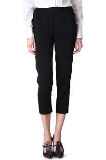 VIVIENNE WESTWOOD Cropped satin trousers