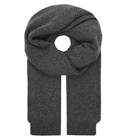PRINGLE OF SCOTLAND Oversized cashmere scarf (Grey+melange
