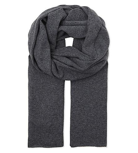 PRINGLE OF SCOTLAND Blanket cashmere scarf (Smog