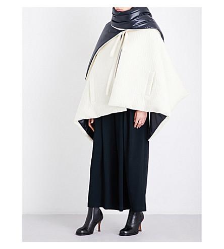PRINGLE OF SCOTLAND Oversized wool and shell cape (Cream