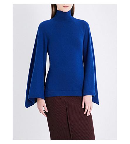 PRINGLE OF SCOTLAND Turtleneck cashmere jumper (Dark+denim