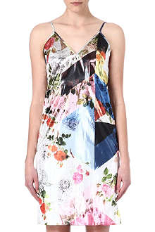 PREEN Metallic floral-print dress