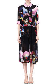 PREEN Abstact printed shirt dress