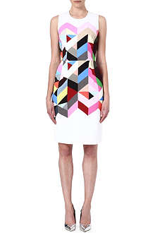 PREEN Geometric print crepe dress