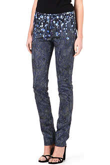 PREEN Floral striped trousers