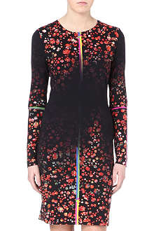 PREEN Floral-print jersey bodycon dress