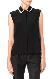 PREEN Rack silk top