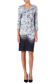 PREEN Floral-print ombre dress