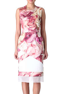 PREEN Peony stretch-cotton dress