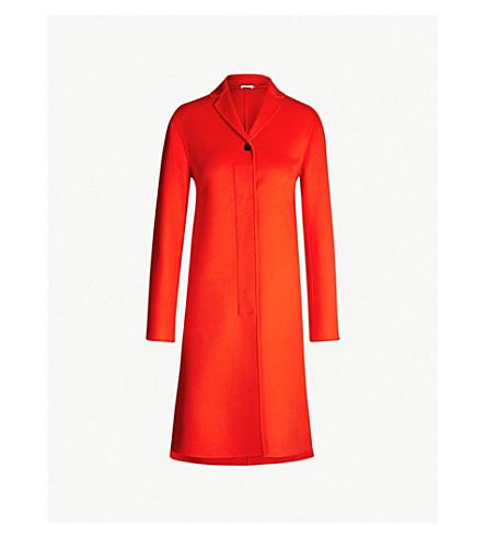 JIL SANDER Guatemala notch-lapel cashmere coat (Bright orange