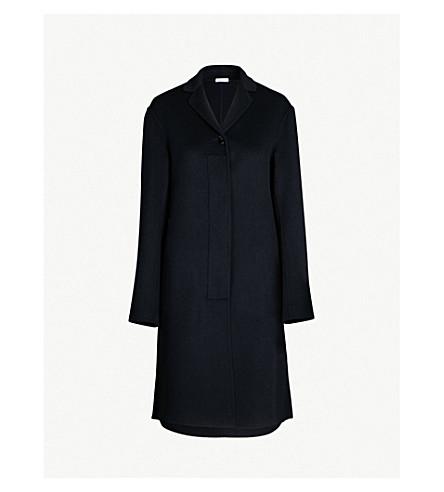 JIL SANDER Guatemala notch-lapel cashmere coat (Dark blue