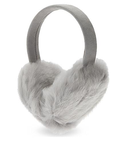 KARL DONOGHUE Cashmere lambskin earmuffs (Moon