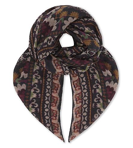 ETRO Bombay cashmere scarf (Black