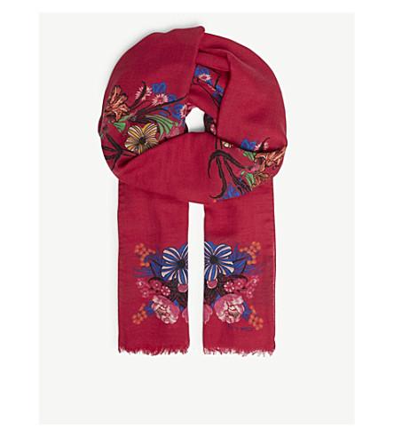 ETRO Shaal-Nur printed silk-blend scarf (Pink