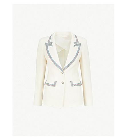 ETRO Giacca wool-blend jacket (White