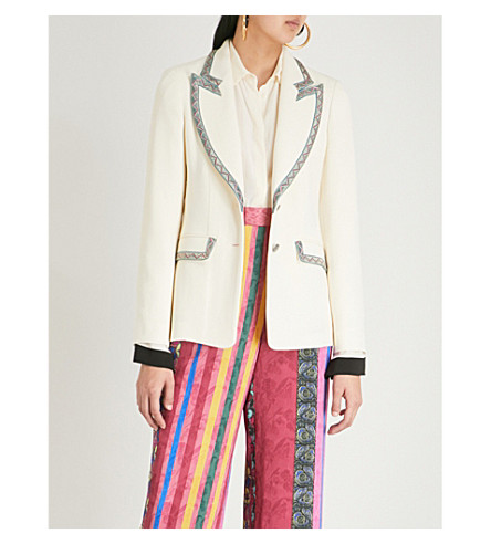 ETRO Giacca wool-blend jacket (White