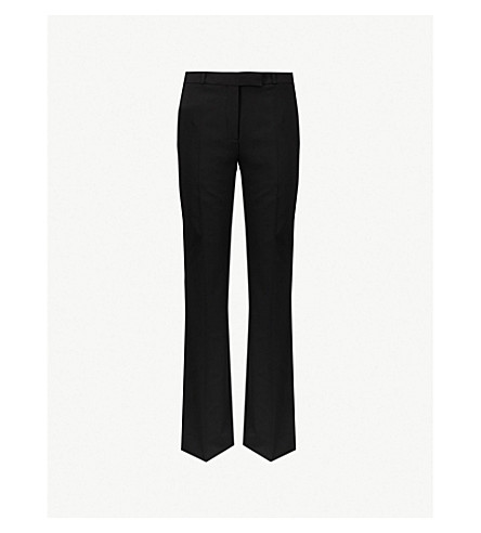 ETRO Striped-side kick-flare stretch-wool trousers (Black