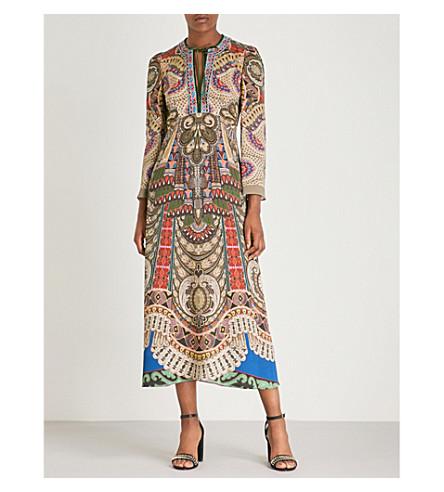 ETRO Dream printed stretch-crepe midi dress (Blue+multi