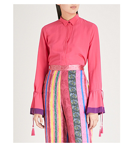 shirt ETRO Cancia ETRO Cancia Pink silk ZITaZwq