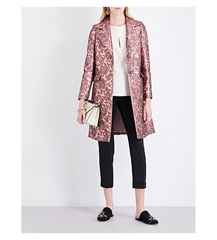 ETRO Metallic jacquard wool coat (Pink